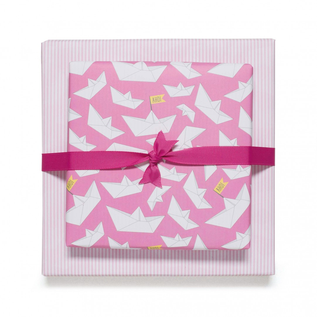 GIFT WRAP AHOY - PINK