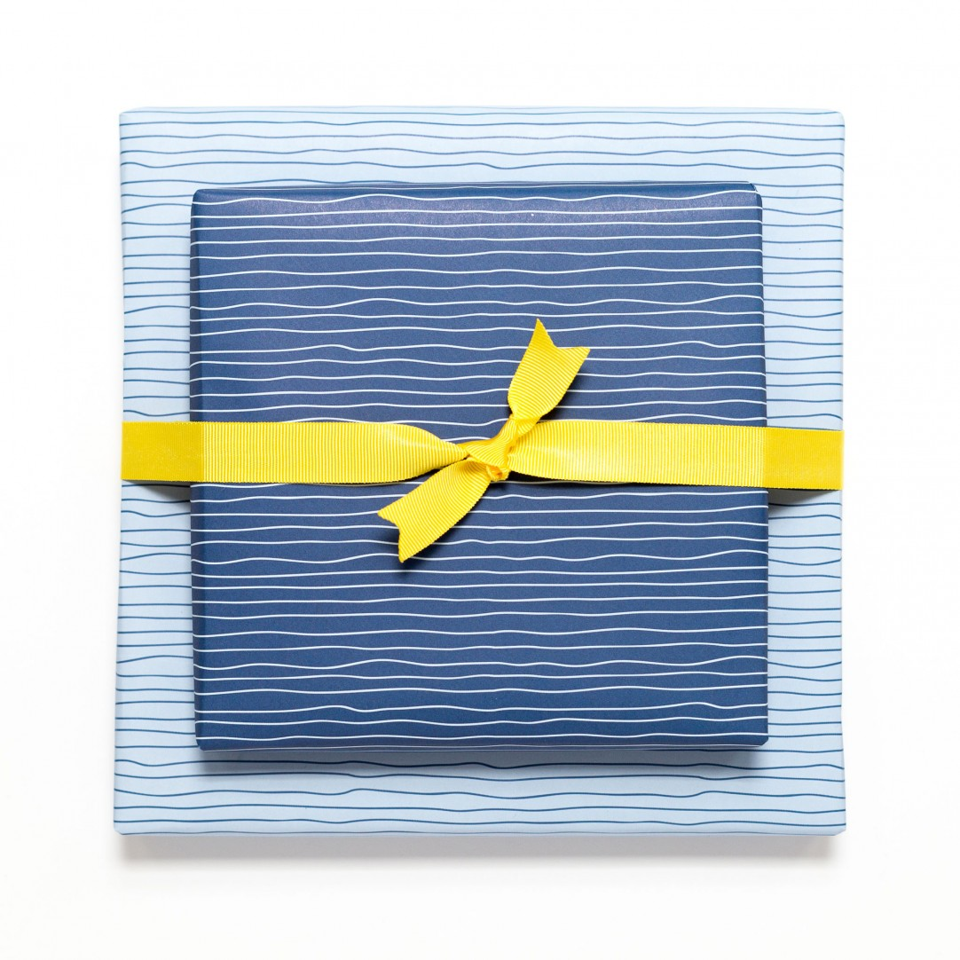 Gift Wrap Water - Blue