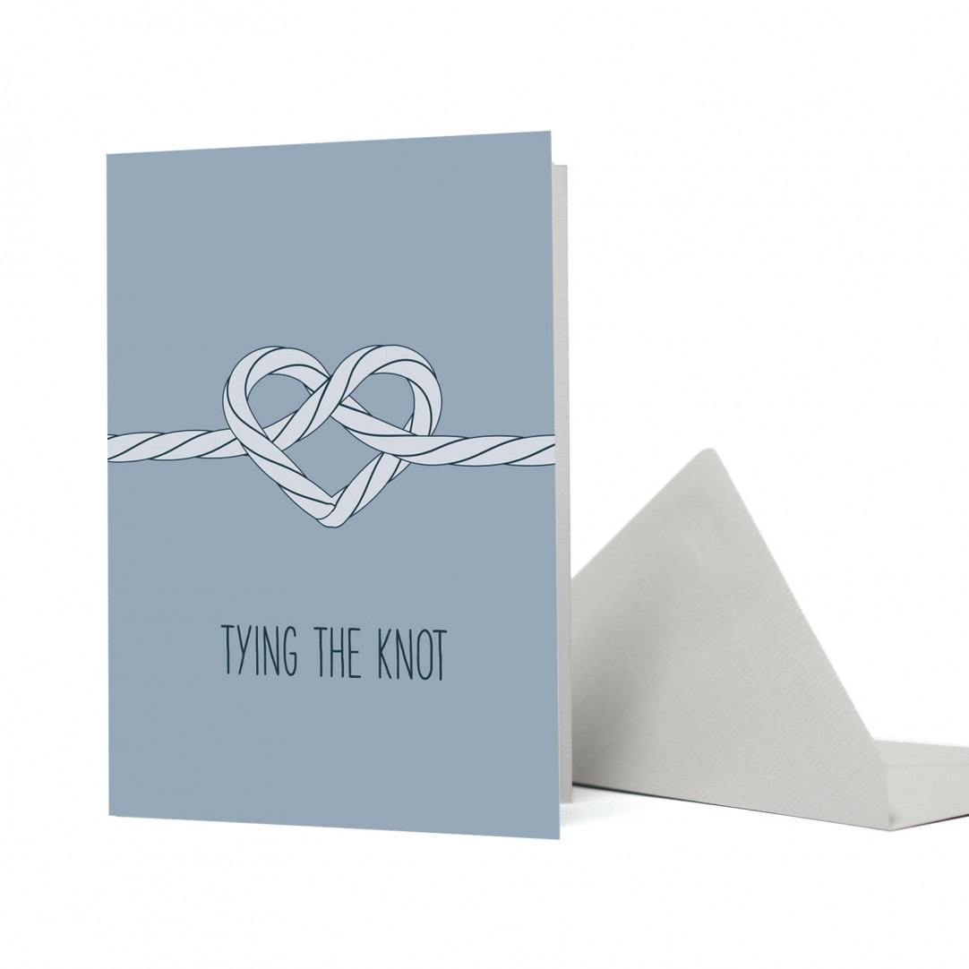 """CARD KNOT """"TYING THE KNOT"""""""