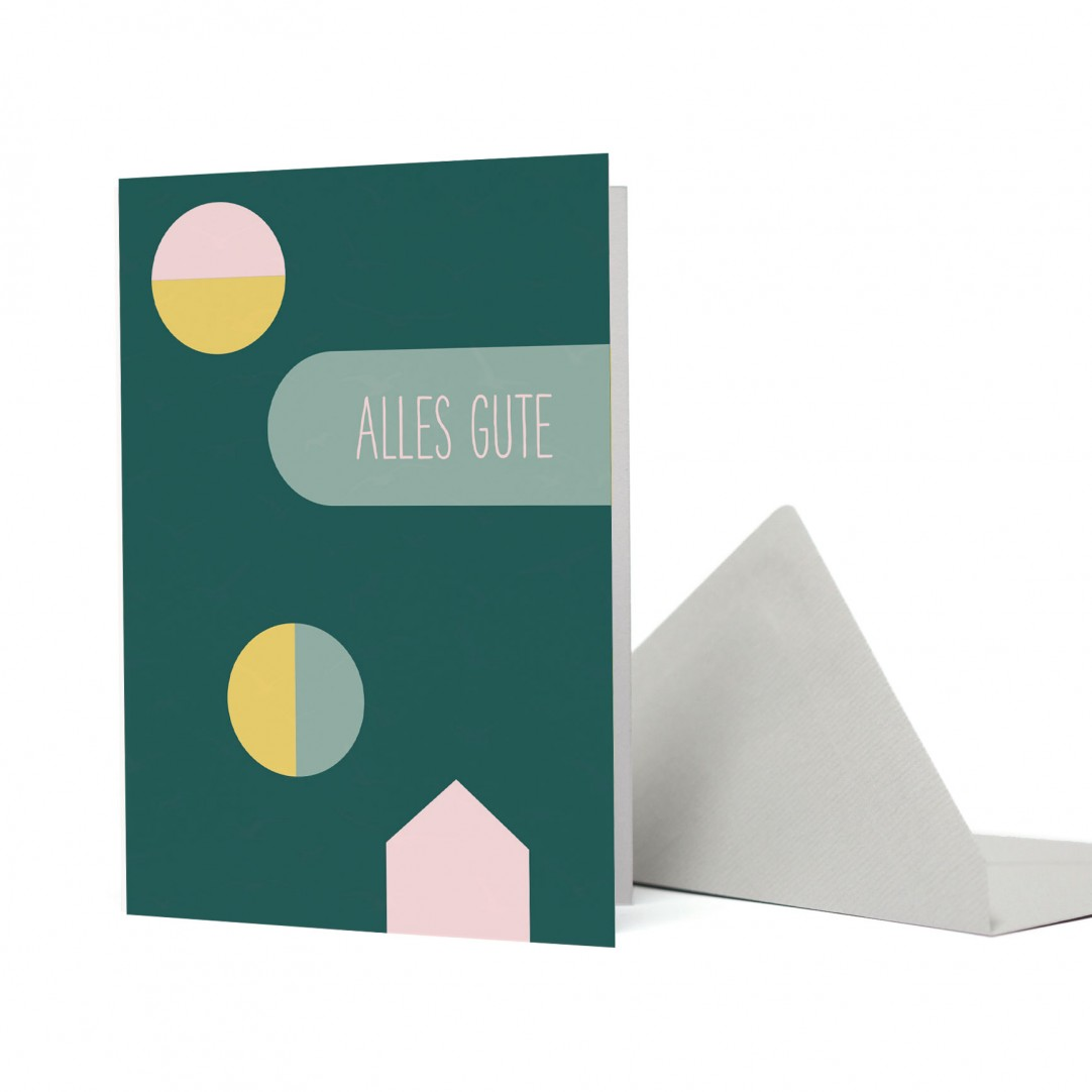 "KARTE SHAPES ""ALLES GUTE"""