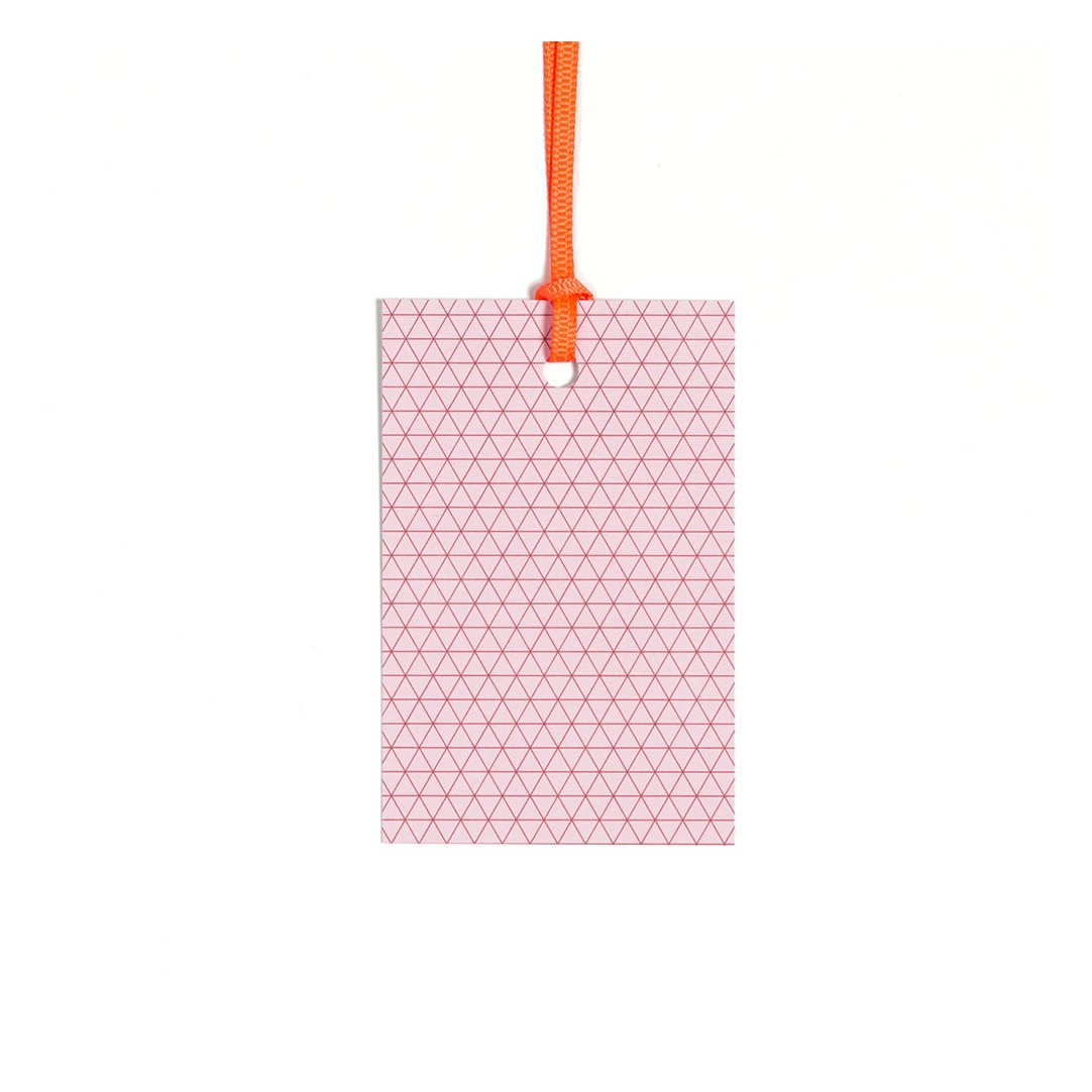 5 Gift Tags Triangle rosy