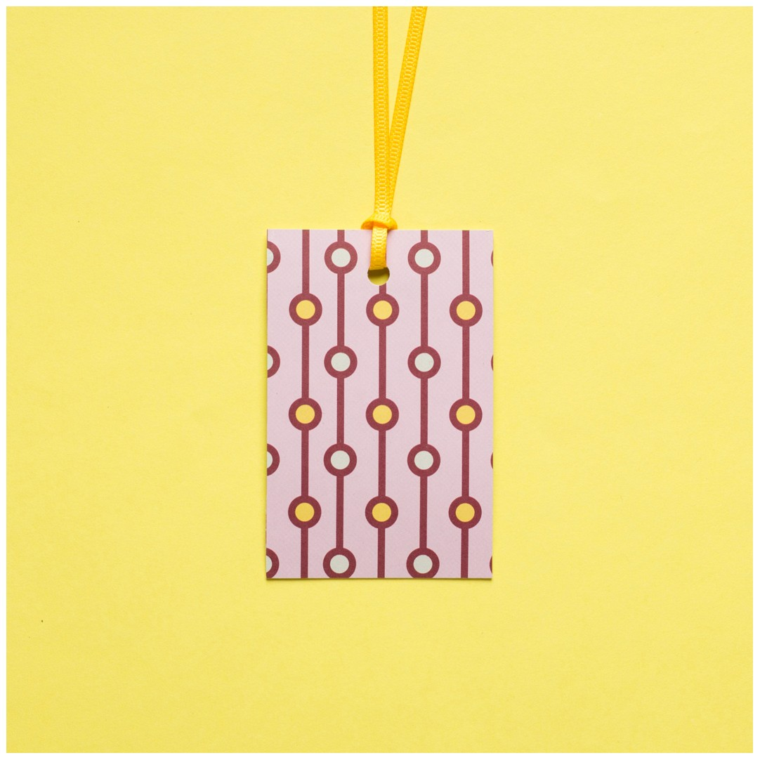 "5 GIFT TAGS ""PEARLS"""